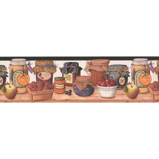 Retro Design 15 L X 7 W Jams And Jelly In Jar Kitchen Bathroom Wallpaper Border