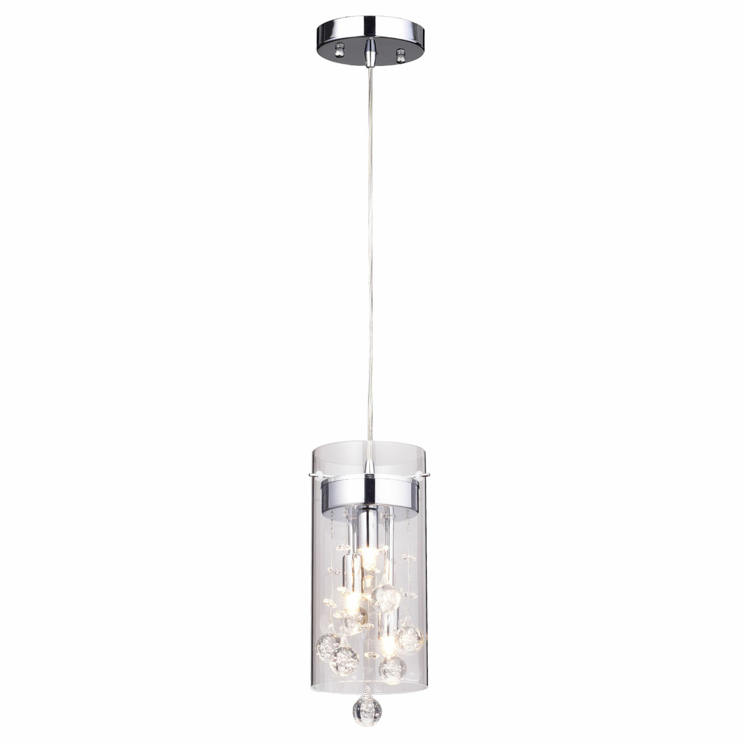 crystal light pendant clear inch item by matrix spectra and shown with mini cfm wide black geometrix swarovski cylinder schonbek