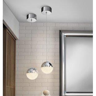 Bathroom pendants wayfair sphere 1 light led globe pendant mozeypictures Image collections
