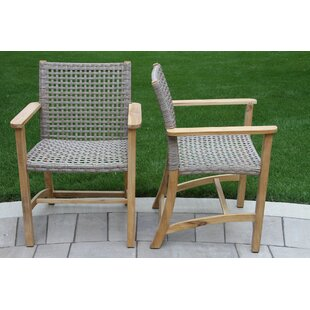Tibbitts Teak Patio Dining Chair Set Of 2