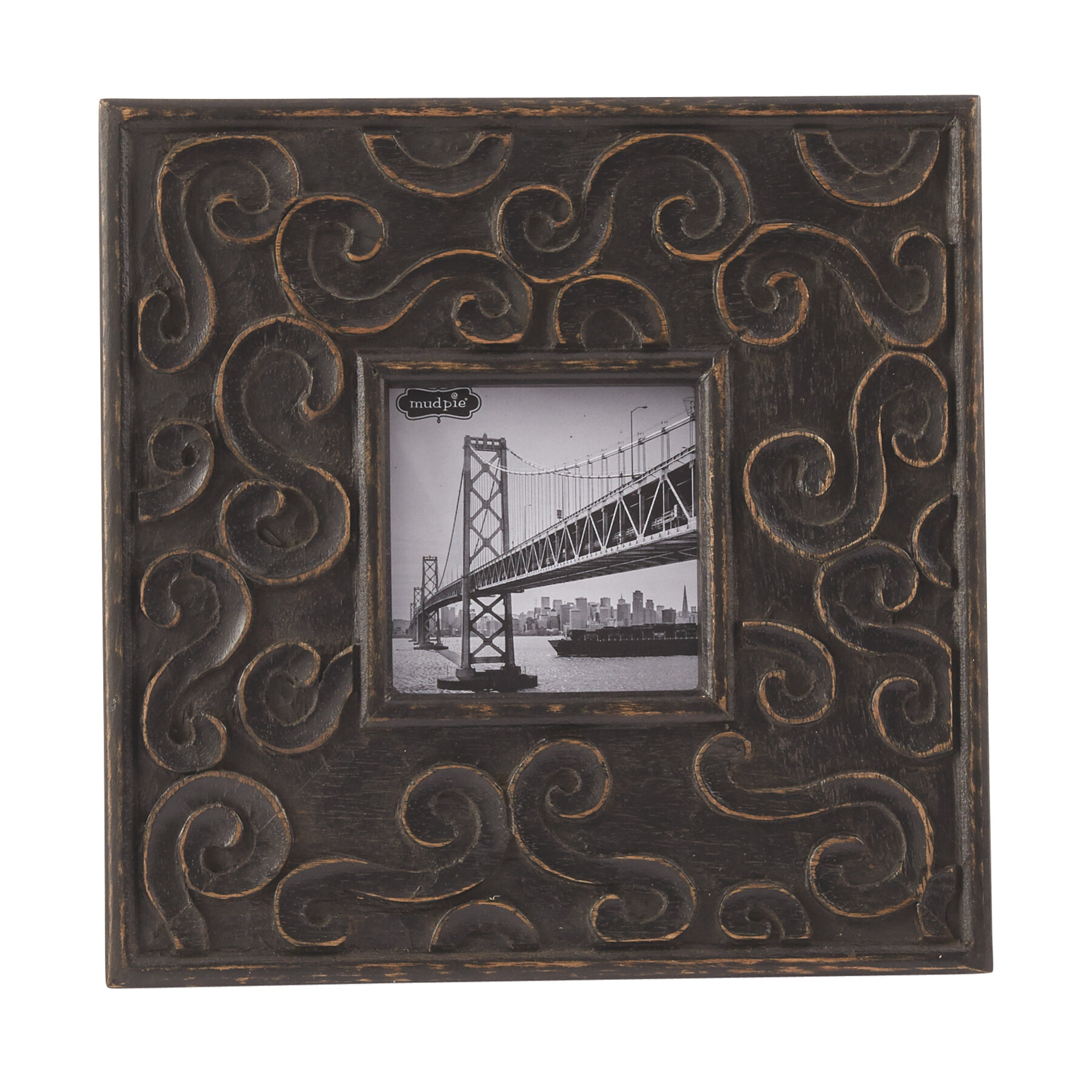 Mud pie carved wood scroll picture frame reviews wayfair jeuxipadfo Image collections