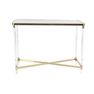 Ozzy Modern Rectangular Mirror Console Table