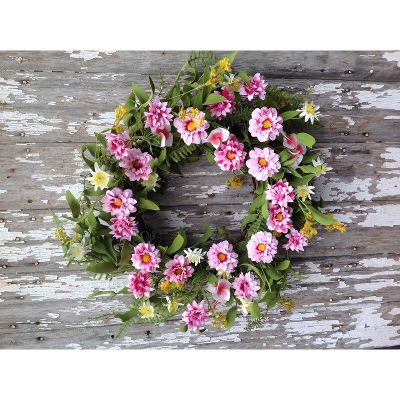 Mills Floral Delight 20 Quot Wreath Wayfair
