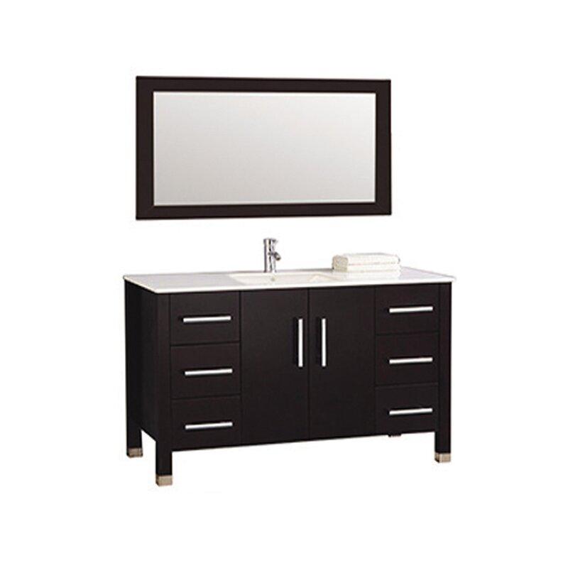 Orren Ellis Prahl 47 Single Bathroom Vanity Set With Mirror