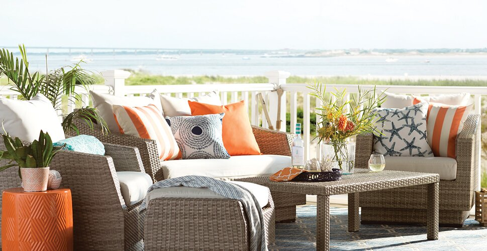 stylist and luxury better homes and gardens outdoor cushions. Built to Last Outdoor Seating You ll Love  Wayfair