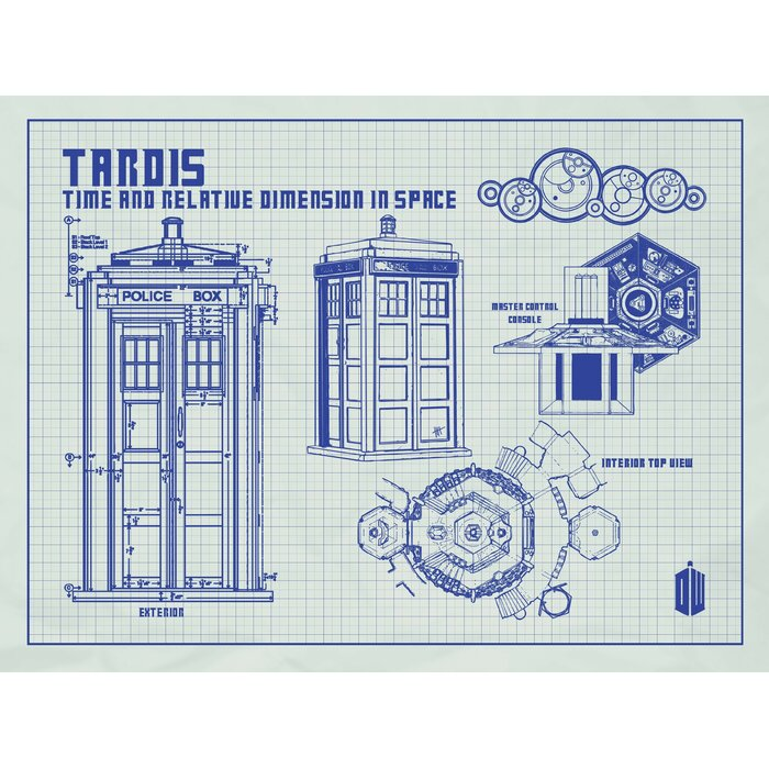Inked and screened doctor who tardis blueprint graphic art reviews doctor who tardis blueprint graphic art malvernweather Gallery