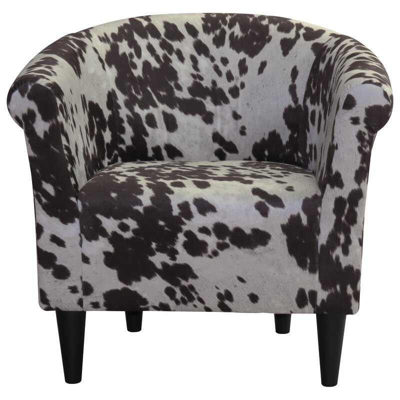 Denmark Cowhide Barrel Chair Amp Reviews Joss Amp Main