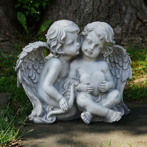 Cherub Sitting Angels Outdoor Garden Statue