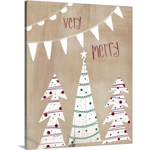 Very Merry by Katie Doucette Painting Print on Wrapped Canvas