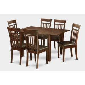 Milan 7 Piece Dining Set by East West Furniture
