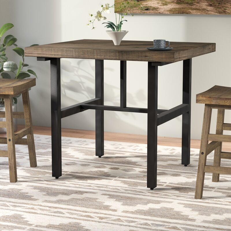 Mistana Veropeso Reclaimed Wood Counter Height Dining Table Reviews Wayfair
