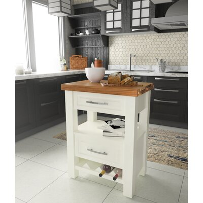Brunton Kitchen Island With Butcher Block : Assembled Kitchen Carts (Portable) Kitchen Islands & Carts You'll Love Wayfair