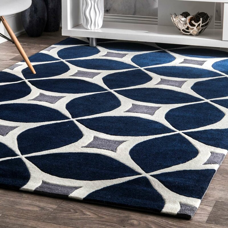 Wrought Studio Roush Navy Area Rug Amp Reviews Wayfair
