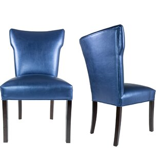 Cresson Vinyl Upholstered Contemporary Side Chair (Set of 2)
