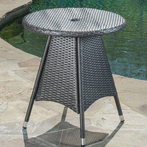 Brissette Wicker Round Bistro Table