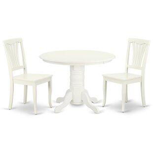 Konopka 3 Piece Solid Wood Dining Set