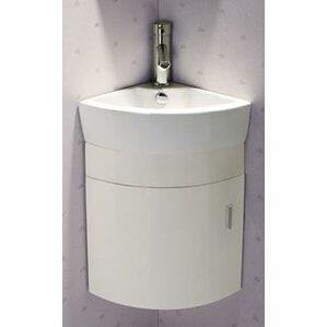 corner bathroom vanity with sink. 17 5  Single Melamine Wall Hung Corner Bathroom Vanity Set Vanities You ll Love Wayfair