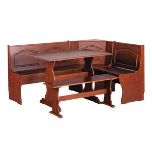 Virginie 3 Piece Breakfast Nook Dining Set by Au..