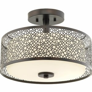 Komal 1-Light Semi Flush Mount