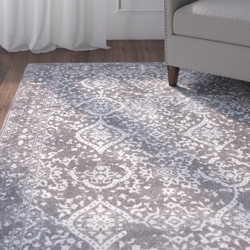 Charmant Dorothea Gray Area Rug