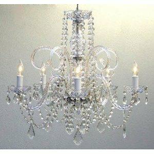 Victorian chandelier wayfair kanagy swarovski 5 light candle style chandelier mozeypictures Choice Image
