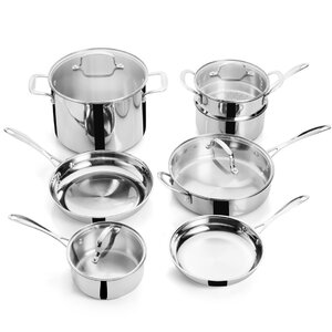 11 Piece Superior Stainless Steel Cookware Set