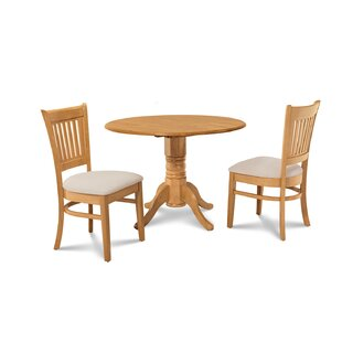 Chesterton Transitional 3 Piece Oak Solid Wood Dining Set