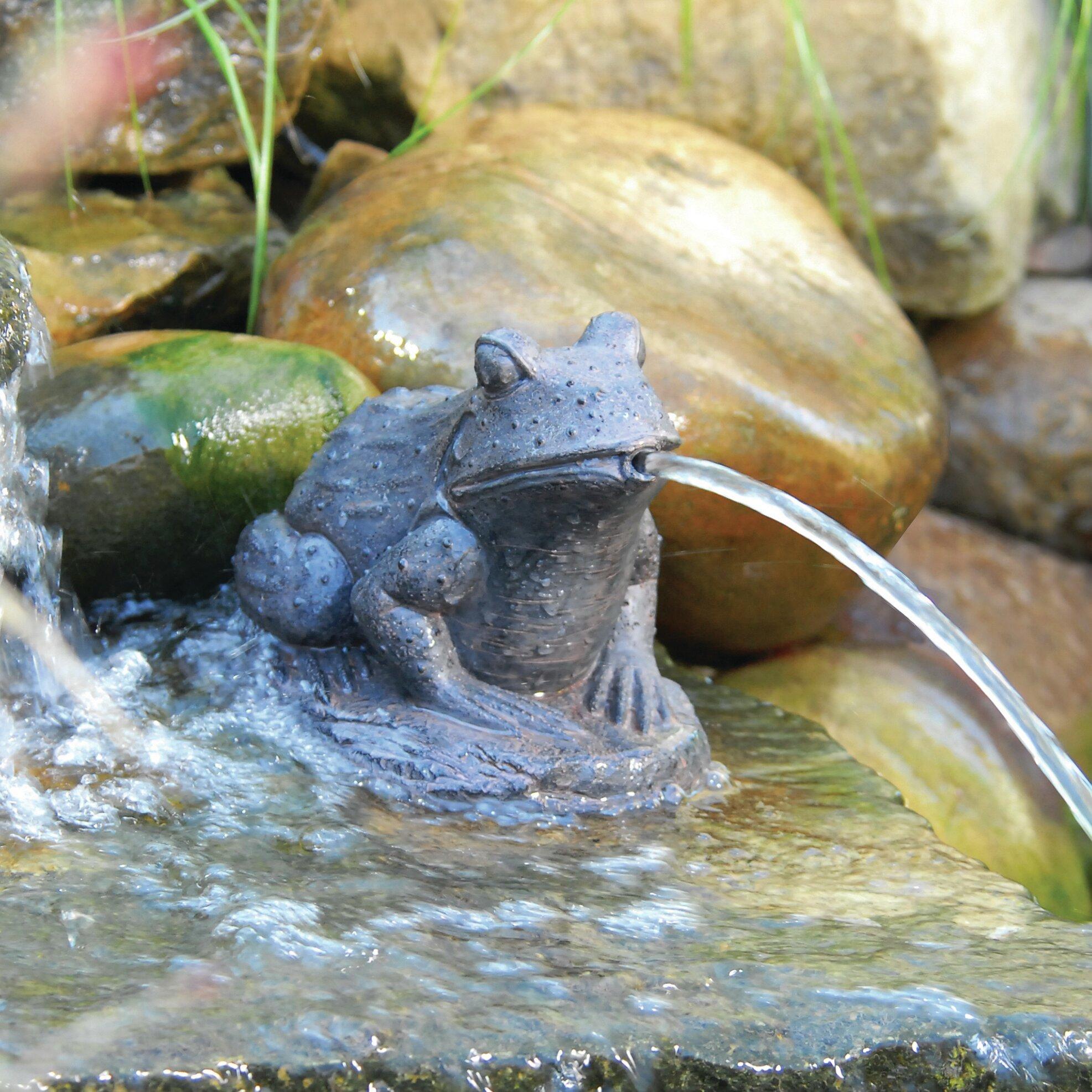 Pond Boss Resin Frog Spitter & Reviews