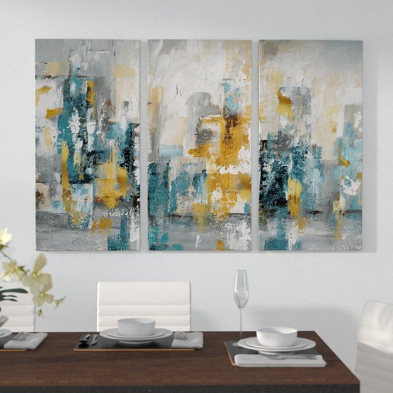 George Oliver City Views Ii Acrylic Painting Print Multi