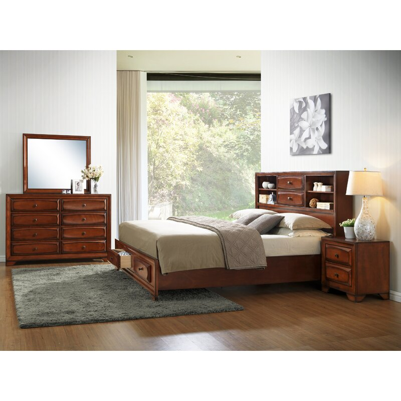 Roundhill Furniture Asger King Platform Customizable: Roundhill Furniture Asger Queen Platform Configurable