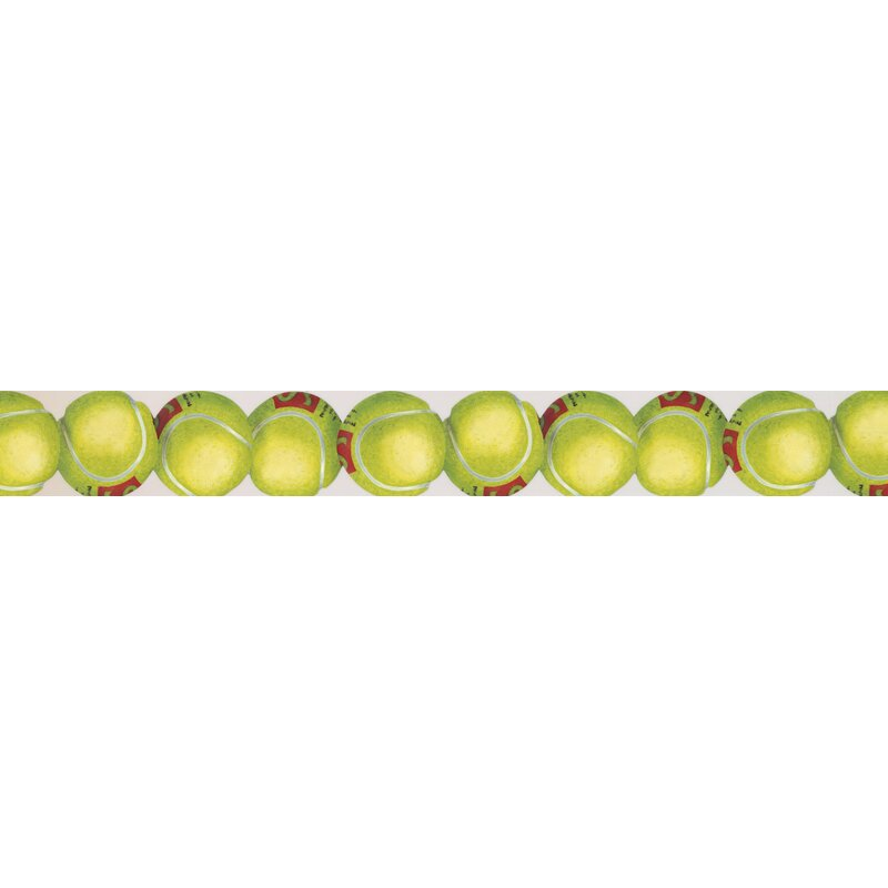 York Wallcoverings Tennis Balls Sports Retro Design 15 L X 3 W