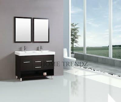 """Bathroom Vanity Sets kokols 48"""" double bathroom vanity set with mirror & reviews   wayfair"""