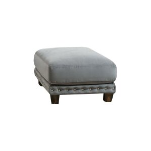 Bilberry Wood Ottoman by World Menagerie