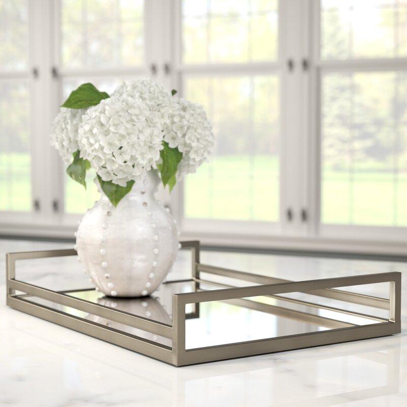 Willa Arlo Interiors Rectangle Glass Accent Tray