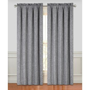 couture solid semisheer rod pocket curtain panels set of 2