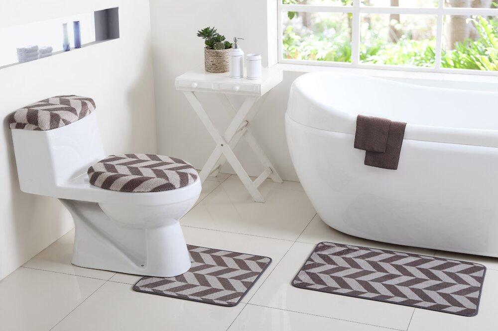 vcny josette 6 piece bath rug set reviews wayfair
