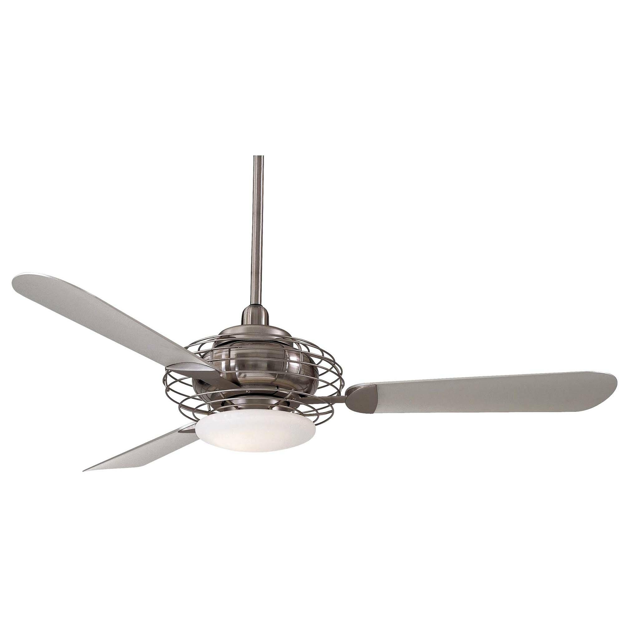 """Minka Aire 52"""" Acero Retro 3 Blade LED Ceiling Fan & Reviews"""