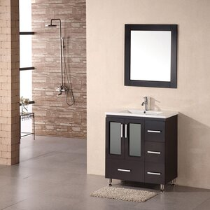 Pratt 32″ Single Modern Bathroom Vanity Set with Mirror