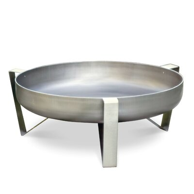 Curonian Agila Stainless Steel Wood Burning Fire Pit Finish: Stainless Steel