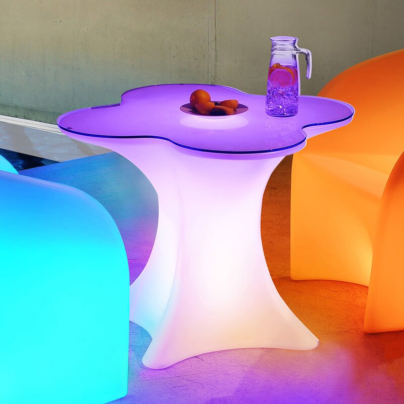 Orren Ellis Bohnert Glass Bistro Table Reviews Wayfair