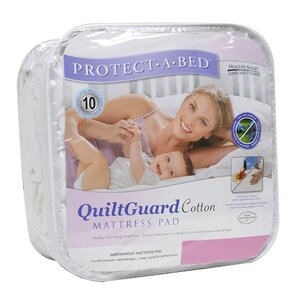 Quilt Guard Fitted Hypoallergenic Waterproof Mattress Protector by Protect-A-Bed