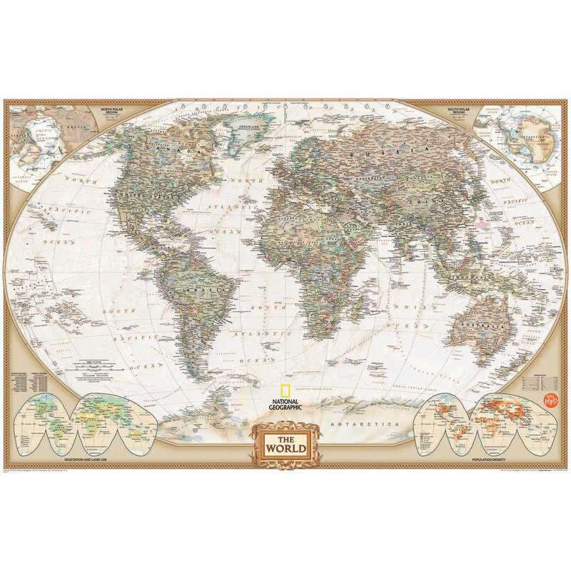 Wallpops Wall Art Kit National Geographic World Map Wall Mural