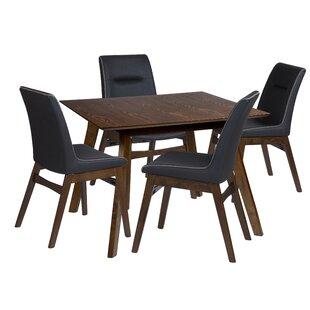 Maxson 5 Piece Solid Wood Dining Set
