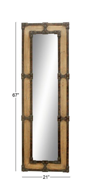 Miroir mural en bois