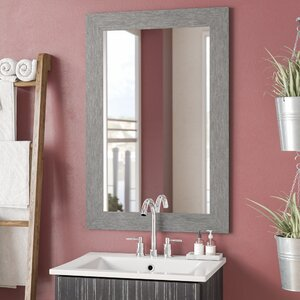 Tippett Brushed Silver Wall Mirror