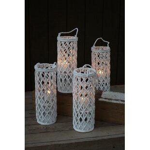 tall willow lantern set of 4 - Patio Lanterns