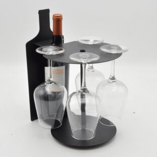 Haddon Bottle Shaped 1 Bottle Tabletop Wine Rack