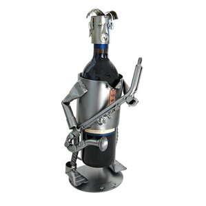Saxophone 1 Bottle Tabletop Wine Rack by H & K SCULPTURES