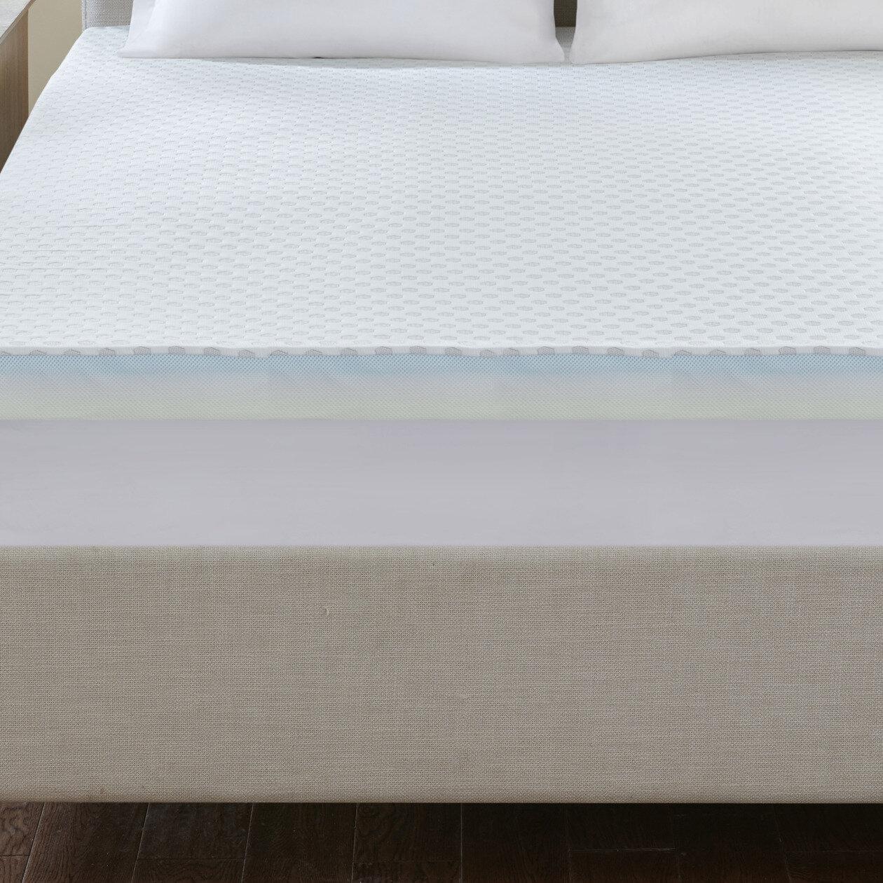 Alwyn Home Lucrezia Cooling To Warming Reversible 3 Gel Memory Foam