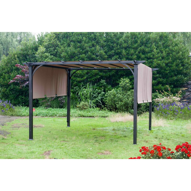 Sunjoy Replacement Canopy for Canvas Sunshade Pergola ... on Canvas Sun Shade Pergola id=28001